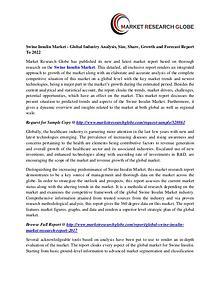 Swine Insulin Market - Global Industry Analysis, Size, Share, Growth