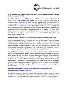 Swine Streptococcosis Market Analysis- Size, Share, Growth, Industry