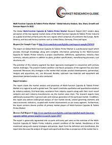 Multi-Function Capsules & Tablets Printer Market - Global Industry