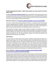Portable Spectrophotometer Market - Global Industry Analysis
