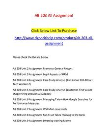 AB 203 All Assignment-Dgoodzhelp.com