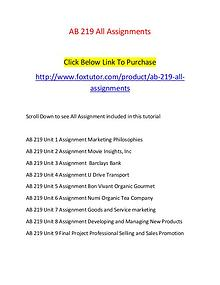 AB 219 All Assignments