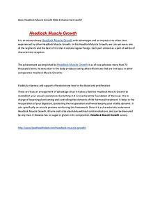 Headlock Muscle Growth