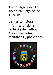 Mi primera revista: Fecha 24 del Fútbol Argentino