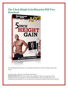 Jason Alessandrini:The 5 Inch Height Gain Blueprint PDF Free Download