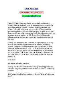 CA19-7 ETHICS / TUTORIALOUTLET DOT COM