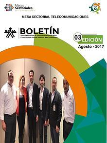 Boletín  # 03 Mesa Sectorial Telecomunicaciones