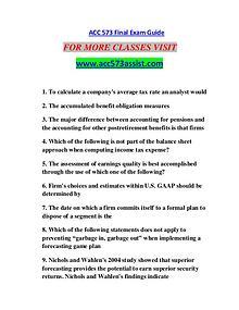 ACC 573 ASSIST Motivated Minds/acc573assist.com