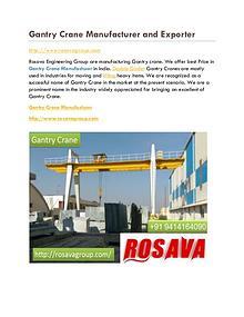 Gantry Crane Highest Price