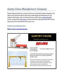 Gantry Crane Supplier