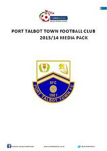 Port Talbot Town Football Club 2013/14 season media pack