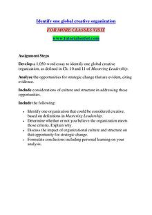 IDENTIFY ONE GLOBAL CREATIVE ORGANIZATION / TUTORIALOUTLET DOT COM