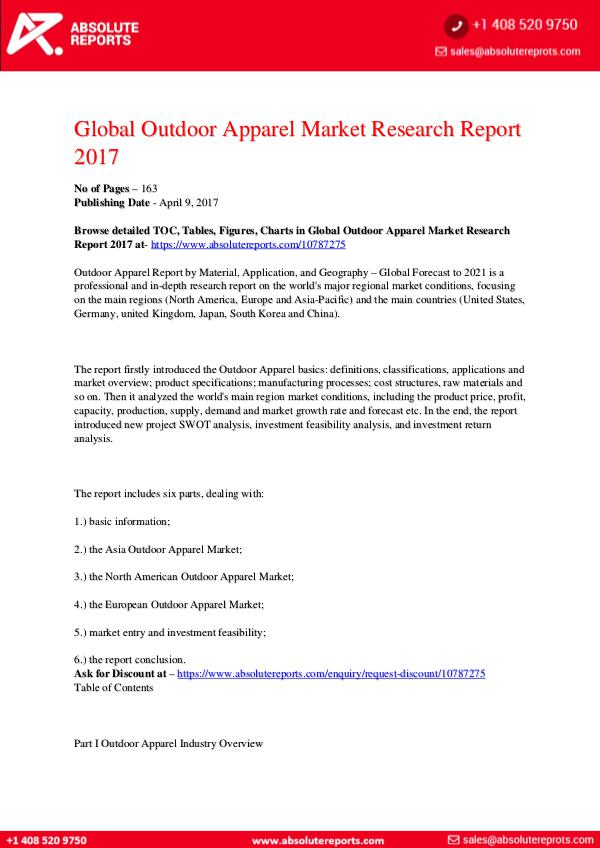 28-07-2017 Outdoor-Apparel-Market-Research-Report-2017