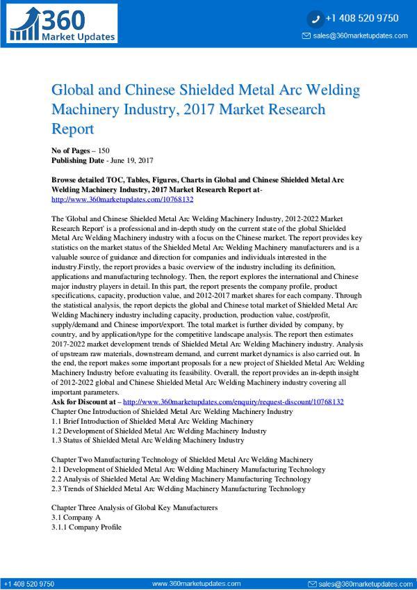 22-06-2017 Shielded-Metal-Arc-Welding-Machinery-Industry-2017