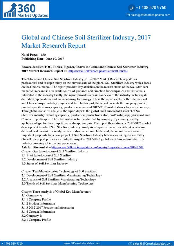 22-06-2017 Soil-Sterilizer-Industry-2017-Market-Research-Repo
