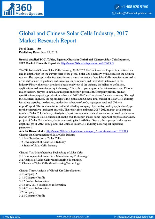22-06-2017 Solar-Cells-Industry-2017-Market-Research-Report