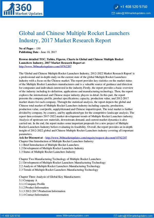 23-06-2017 Multiple-Rocket-Launchers-Industry-2017-Market-Res