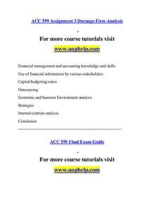 ACC 599 help A Guide to career/uophelp.com