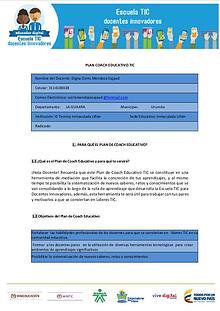 "Mi primera revista ""COACH EDUCATIVO """