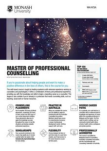 Master of Professional Counselling