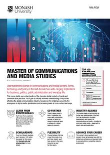 Master of Communications and Media Studies
