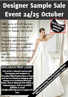 Designer Sample Sale Event