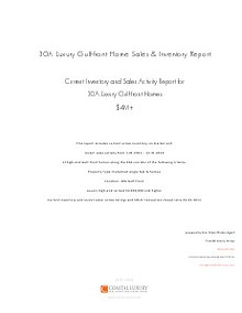 30A High-End Luxury Gulf-front Home Report