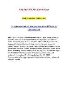 NRS 410V Mr. G Cellulitis docx