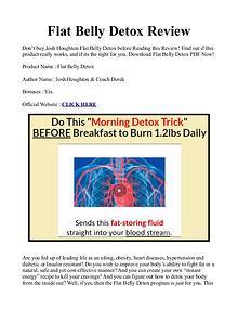 Flat Belly Detox Formula PDF / eBook by Josh Houghton