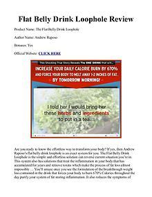 Flat Belly Drink Loophole PDF / Ingredients Free Download