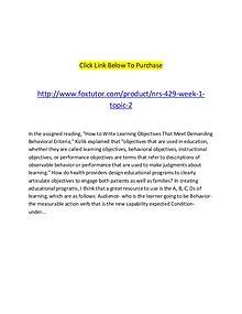 NRS 429 Week 1 Topic 2