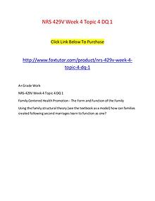 NRS 429V Week 4 Topic 4 DQ 1