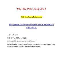 NRS 430V Week 5 Topic 5 DQ 2