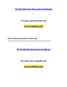 CIS 115 (Devry) help Making Decisions/uophelp.com