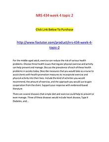 NRS 434 week 4 topic 2