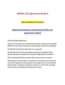 NRS434.CLC Agreement Student