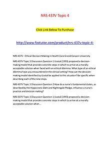 NRS 437V Topic 4
