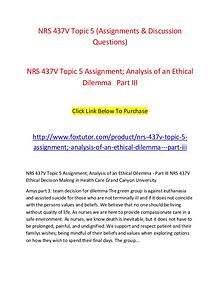 NRS 437V Topic 5 (Assignments & Discussion Questions)