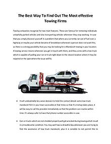 Towing Service Mandurah the most exceptional tow truck service