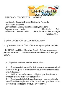 PLAN EDUCATIVO COACH - LIDERANDO
