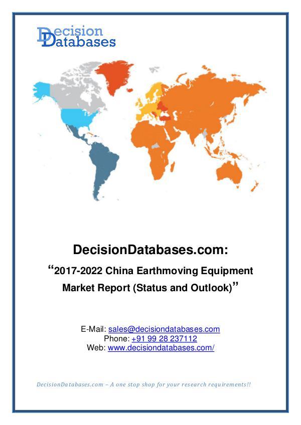 Market Report China Earthmoving Equipment Market Report 2017-202
