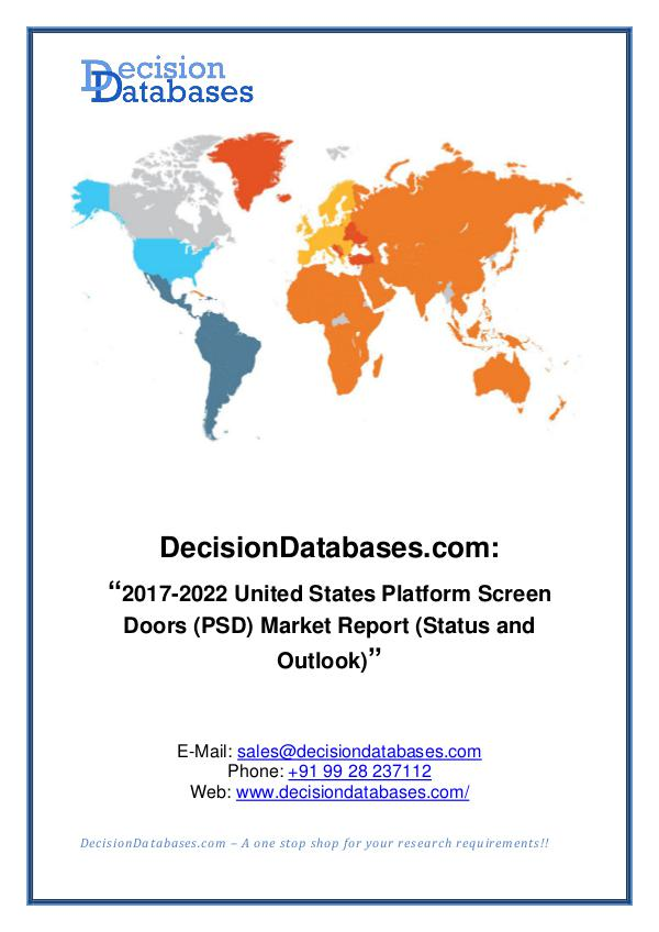 Market Report United States Platform Screen Doors (PSD) Market