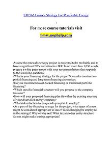 EM 565 help A Clearer path to student success/uophelp.com
