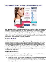 Active Plus Youth Cream: Look Young, Feel youthful with Free Trial!!