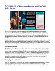 XCell 180 – New Testosterone Booster with Free Trial Offer for you