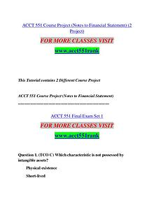 ACCT 551 RANK Start With a Dream /acct551rank.com