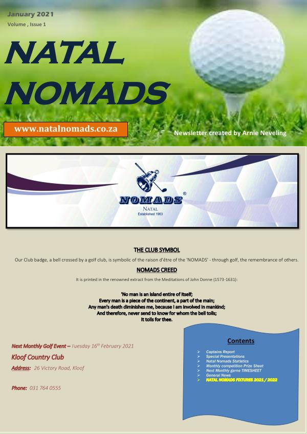 Natal Nomads newsletter -January 2021 issue