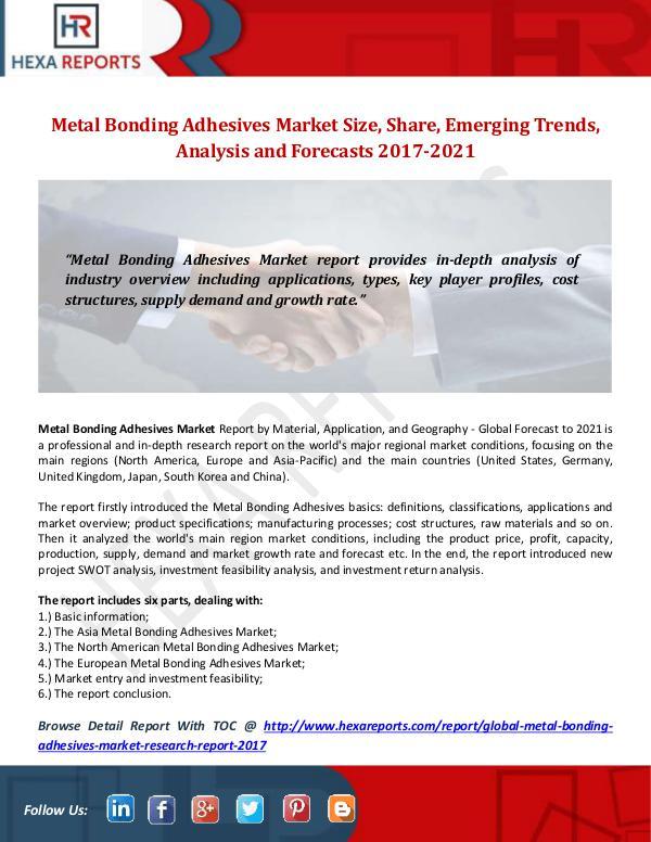 Metal Bonding Adhesives Market