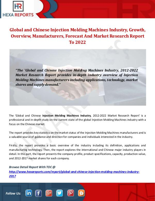 Injection Molding Machines Industry