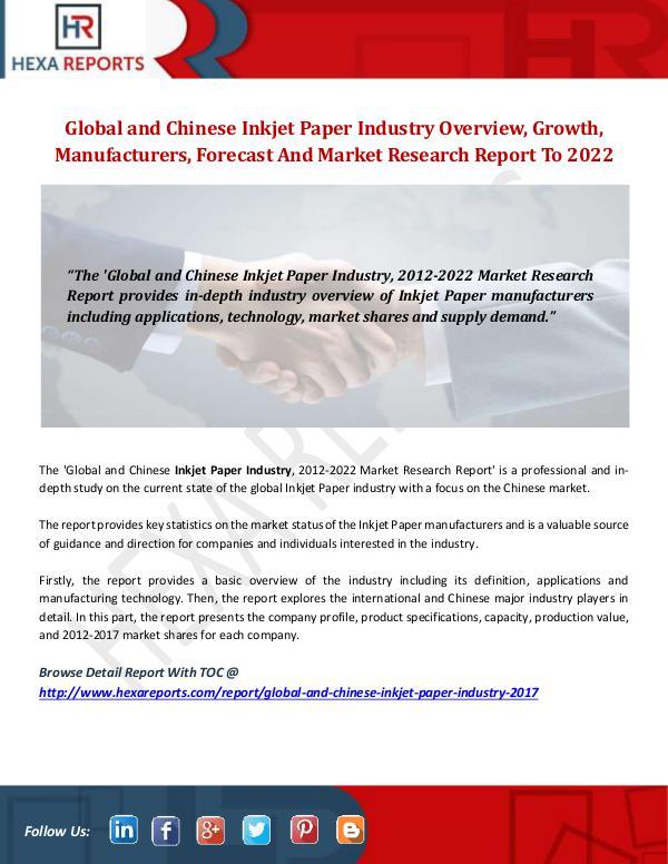 Inkjet Paper Industry